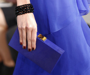 blue, clutch, and dress image