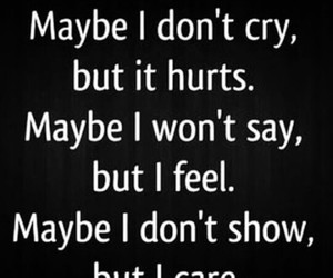 cry, hurt, and care image