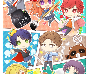 gekkan shoujo nozaki-kun, anime, and chibi image