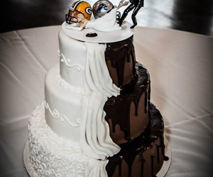 cake, couple, and dress image