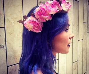 blue hair, colorful hair, and dyed hair image