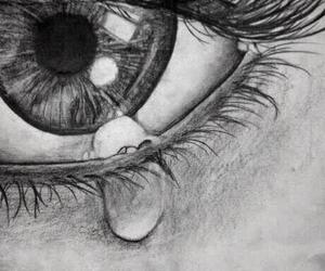 cry, drawing, and wow image