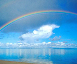 beautiful, rainbows, and blue image