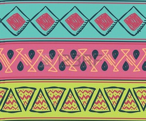 aztec, green, and blues image