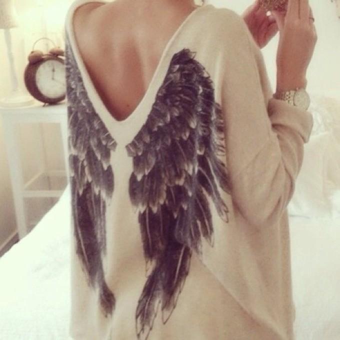 angel, shirt, and stylish image