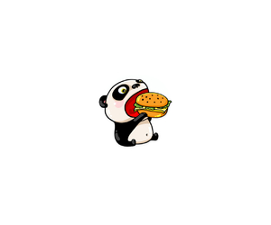burger and panda image