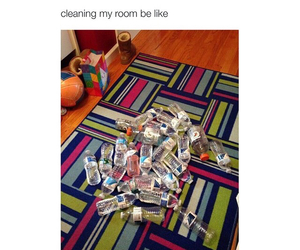 room, funny, and bottle image