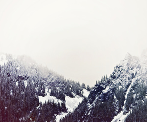 mountain, snow, and vintage image
