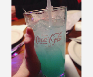 blue, coca cola, and drinks image