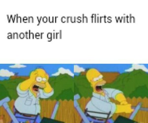 crush, the simpsons, and fun image
