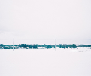 snow, vintage, and white image
