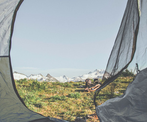 camping, nature, and grass image