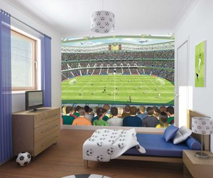 decorations, soccer, and boys room image