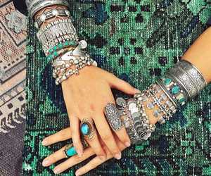 accessories, bracelets, and rings image