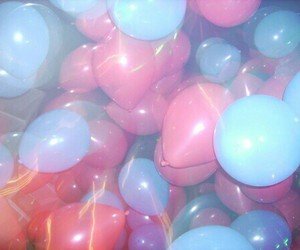 balloons, grunge, and colorful image