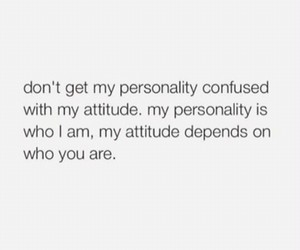 attitude, funny, and personality image