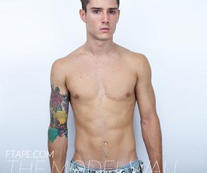 fashion, Tattoos, and male model image