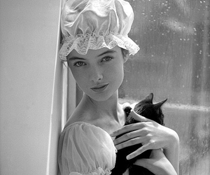 black cat and white image