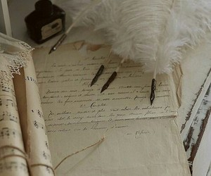 pen, feather, and ink image