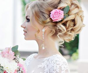 wedding, beauty, and hair image