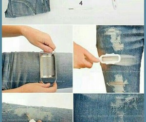 diy, jeans, and tutorial image