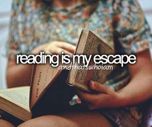 book, reading, and escape image