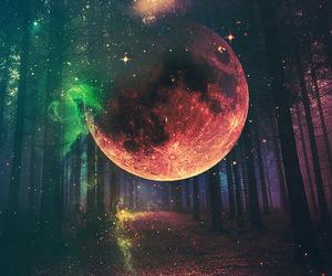 galaxy, wonderland, and moon image