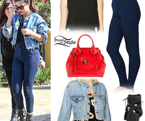 selena gomez, outfit, and style image