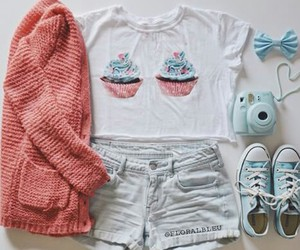 clothes, food, and cute image