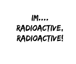 Lyrics and radioactive image