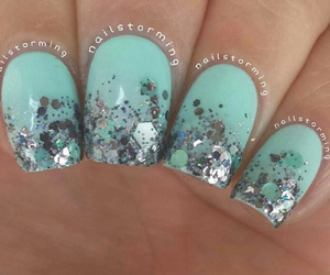 blue, design, and nails image