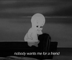 sad, friends, and casper image
