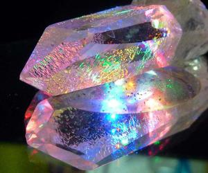 crystal, rainbow, and quartz image