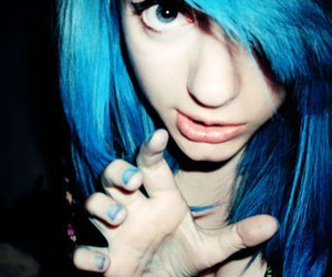 girl, blue hair, and cute image