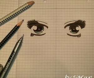 Augen, draw, and drawing image