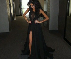 dress, black, and hair image
