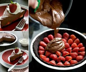 chocolate, strawberry, and diy image