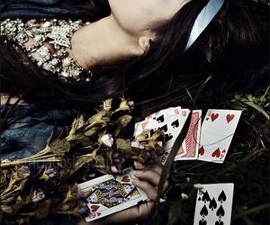 cards, selena gomez, and alice in wonderland image
