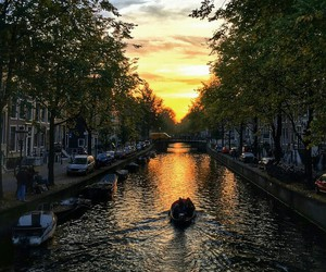 river, amsterdam, and beautiful image
