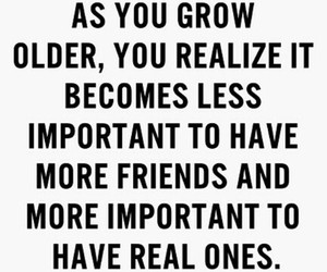 quote, friends, and grow image