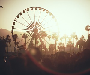 coachella, summer, and ferris wheel image
