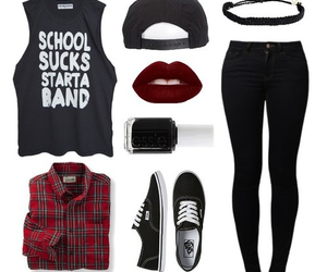 clothes, band, and outfit image