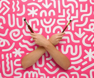 graphics, pink, and hands image