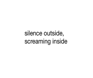 quote, silence, and sad image