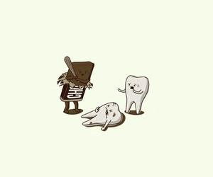 chocolate and teeth image