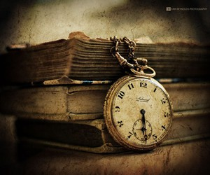book, clock, and time image