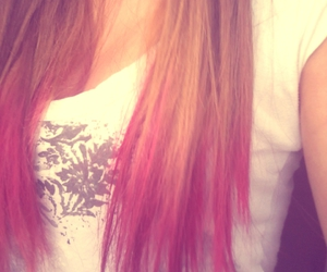 blonde, ombre, and pink image