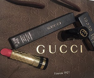 gucci, beauty, and lipstick image