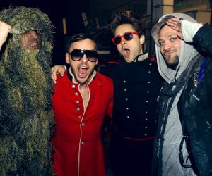 30 seconds to mars, bam margera, and 30stm image