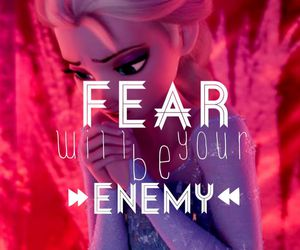 fear, frozen, and elsa image